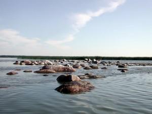Jezioro Gardno Kamienna Wyspa
